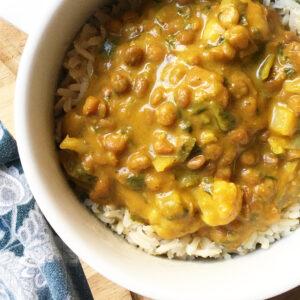pumpkin lentil curry