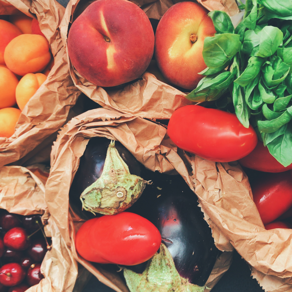 lots of produce is perfect for a grocery budget