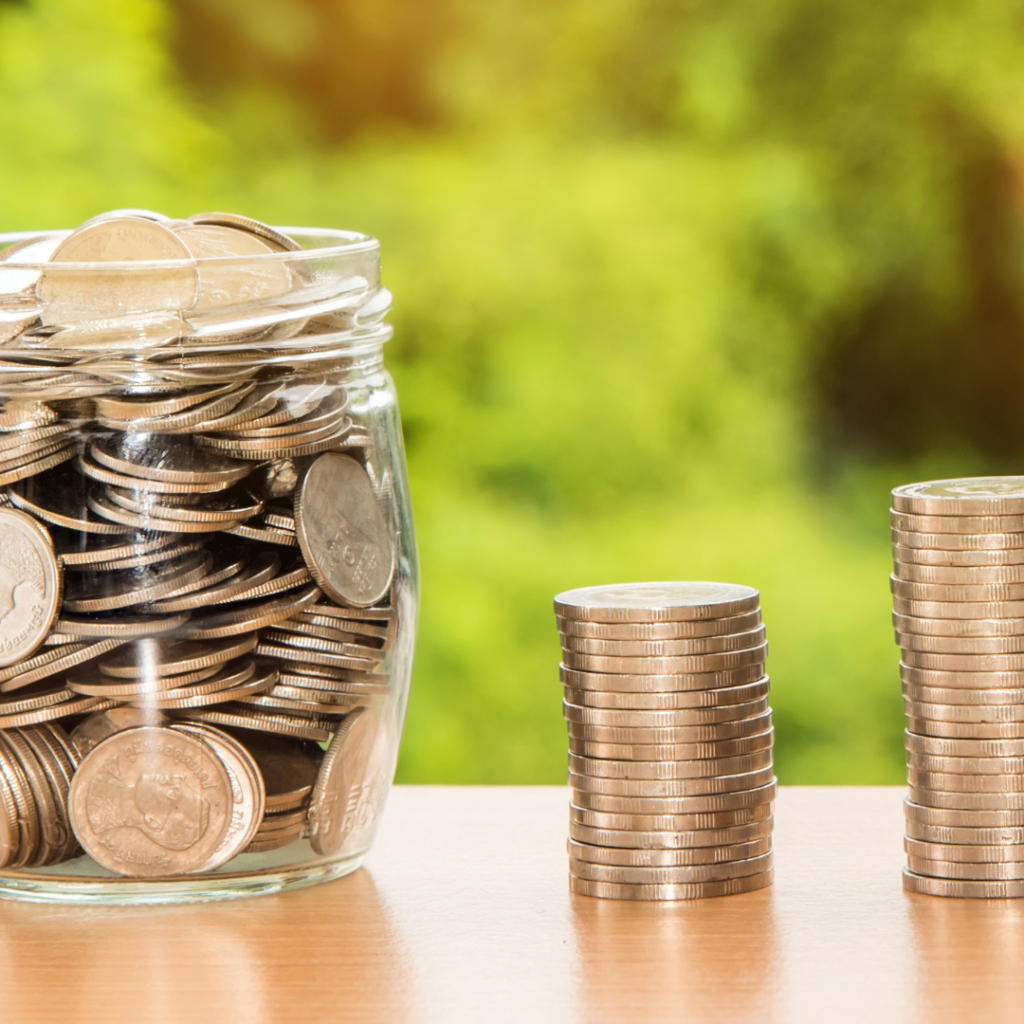 saving coins helps money saving tip