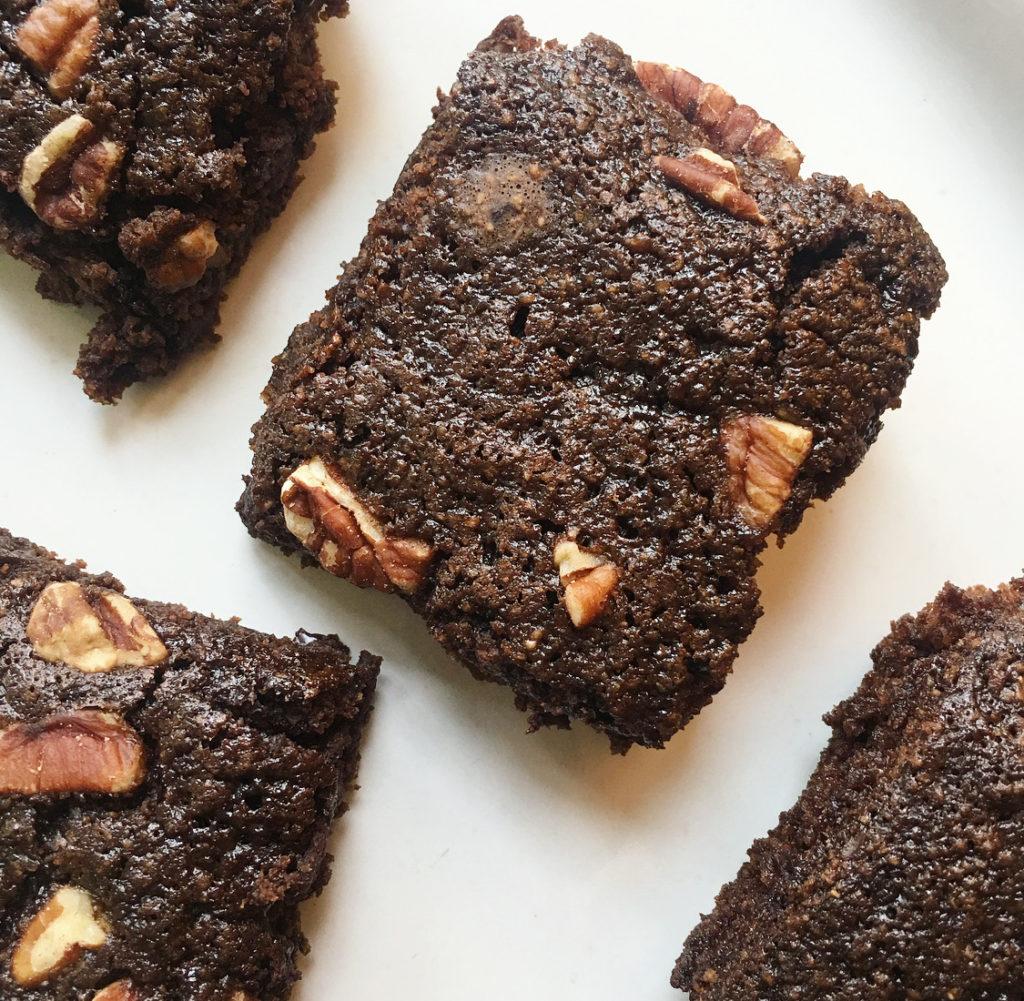 oat flour brownies on a platter