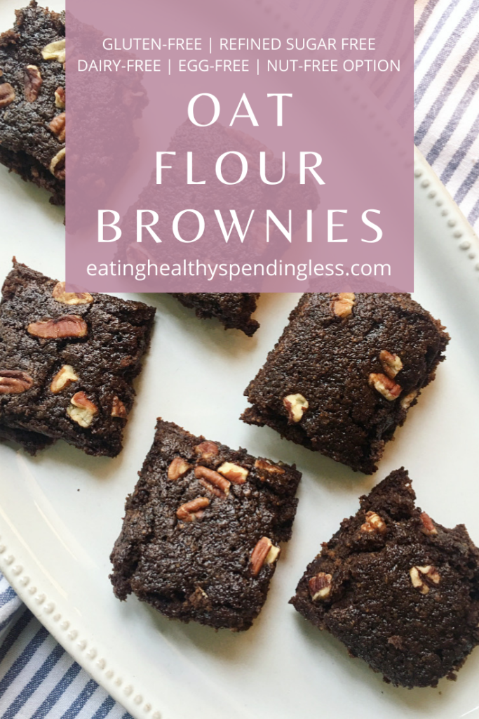 platter of gluten free brownies