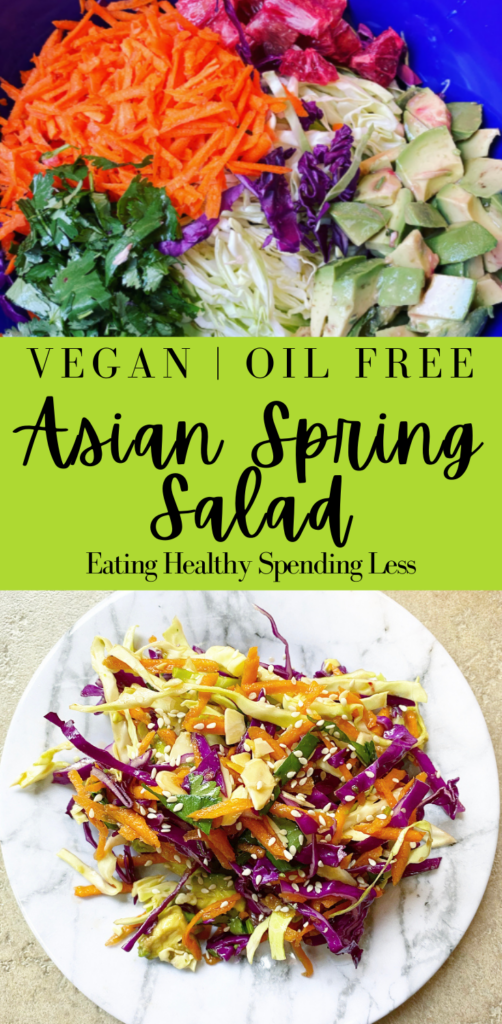 oil free salad dressing asian spring salad