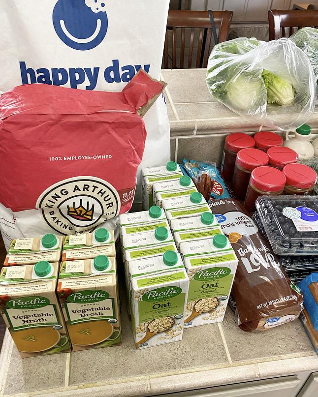 pacific oat milk, king aurthur flour, grocery haul