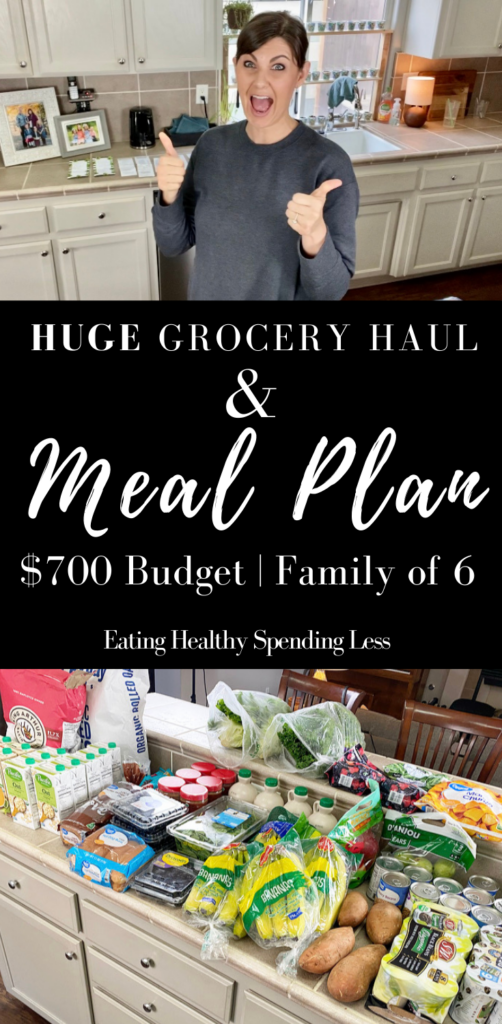 grocery haul and meal plan