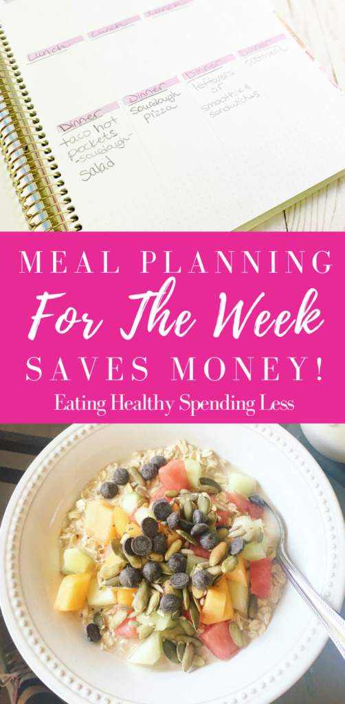 meal planning makes the week better