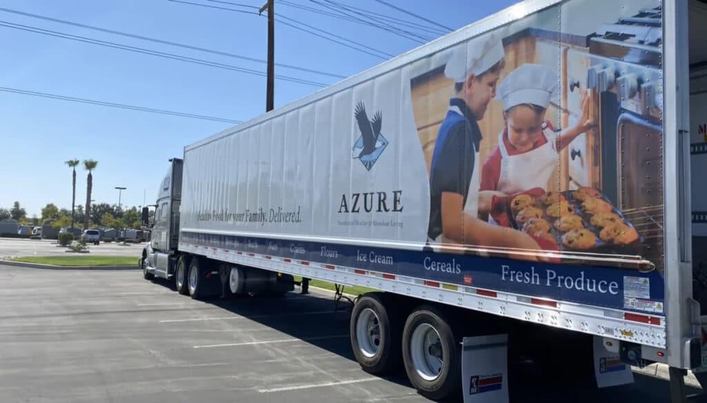 azure standard semi-truck